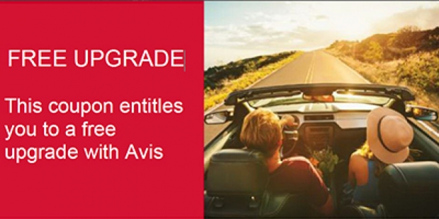 15% off Avis Car Rental and a Complimentary Upgrade with AMEX Card 2