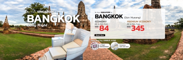Fly to Bangkok with Thai Lion Air from SGD84