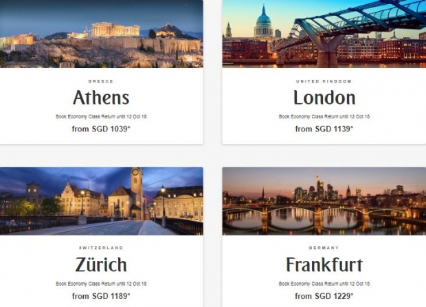 Explore Europe with Flights on Emirates from SGD1,039 1