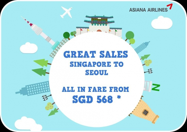 Fly to Seoul with Asiana Airlines from SGD 568