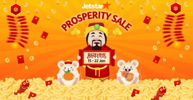 Prosperity Sale in Jetstar with Fares from SGD52