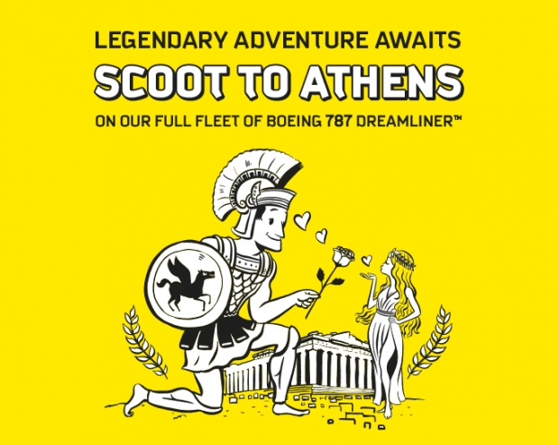 Scoot to Athens from SGD288 with 'GOGREEK' Promo Code