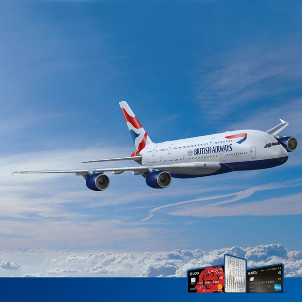 10% off Flights on British Airways to over 185 Destinations Exclusive for UOB Cardholder