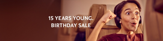 Etihad Airways' 15th Birthday Sale to Europe, America and Middle East from SGD715