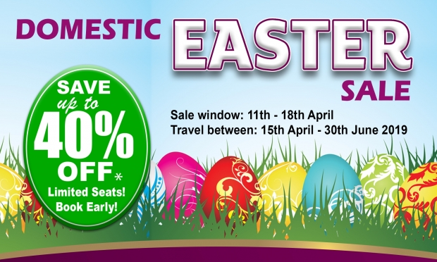 Domestic Eater Sale with Up to 40% Off Flight Fares in Air Niugini