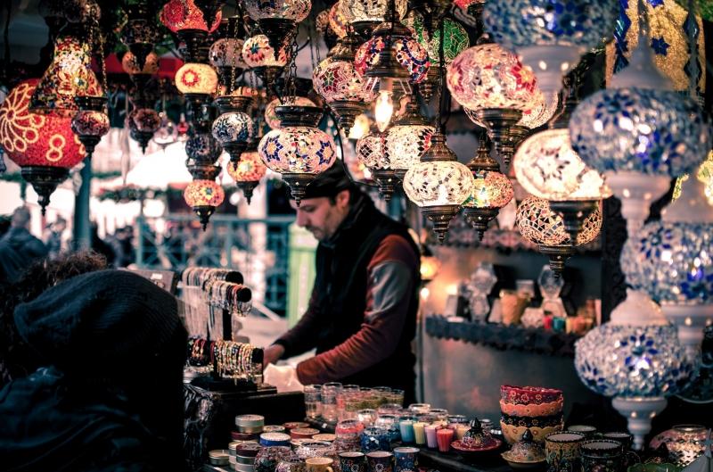 souvenir shop in bazaar