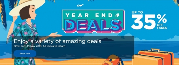 Year End Deals at Malaysia Airlines with Flights Up to 35% Off