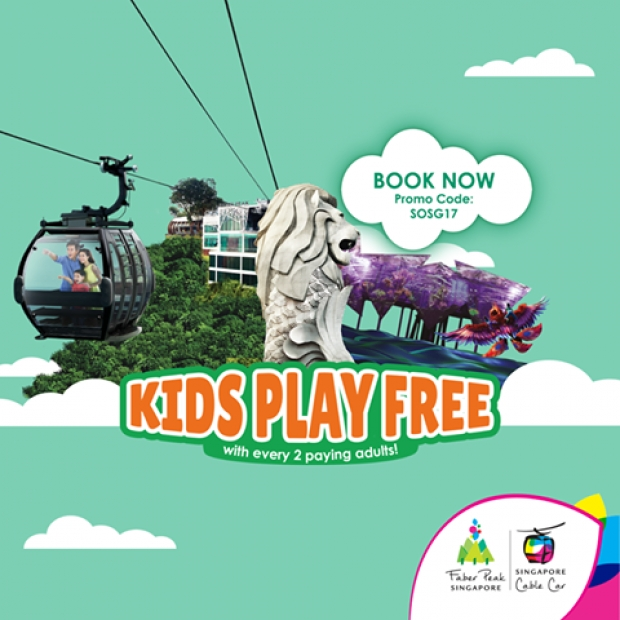 Kids Play FREE with Singapore Cable Car Family-Sized Offer