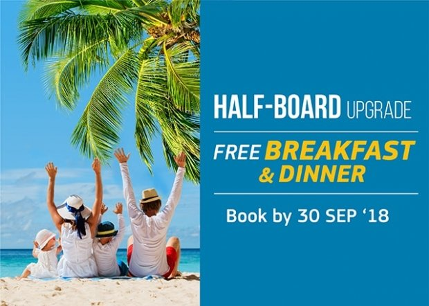 Free Half Board Upgrade with Breakfast and Dinner in Participating Centara Hotels & Resorts