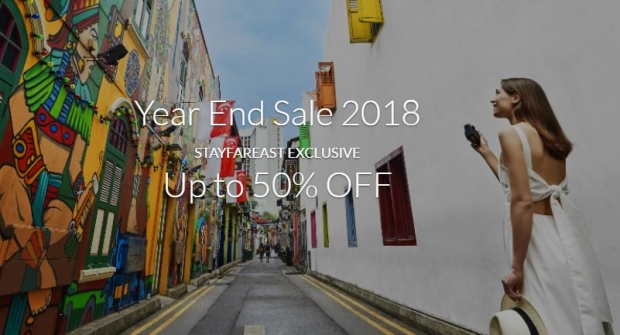 Year End Sale 2018 with Up to 50% Savings in Far East Hospitality