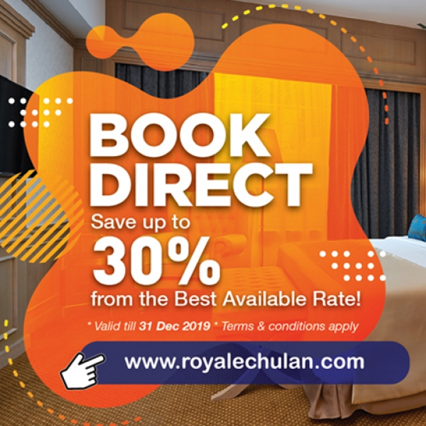 Book Direct and 30% on your Stay at Royale Chulan Bukit Bintang
