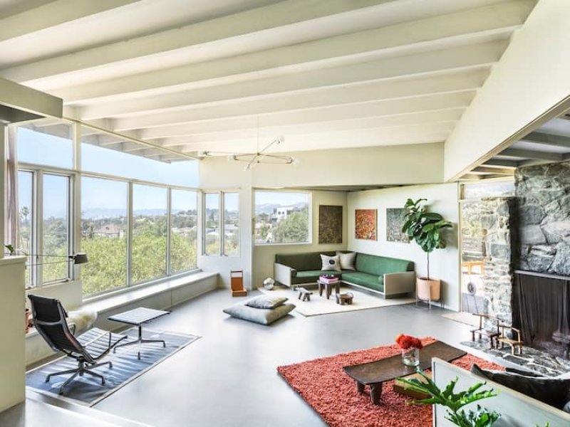 airbnb in los angeles built by rm schindler