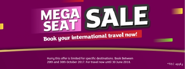 October MEGA SEAT SALE with Extremely Low Fares in Air Niugini