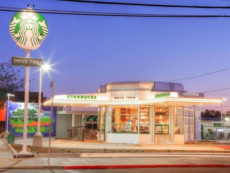 starbucks branches: hollywood
