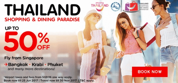 Explore Thailand with AirAsia with UP to 50% Off Airfares