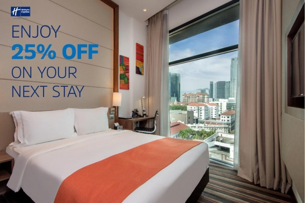 Enjoy 25% Off Best Available Rate in Holiday Inn Express Singapore Clarke Quay