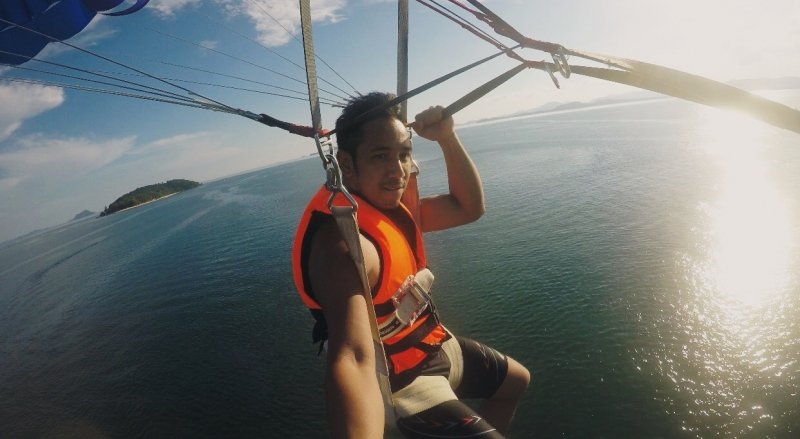 sufi rashid parasailing travelogue