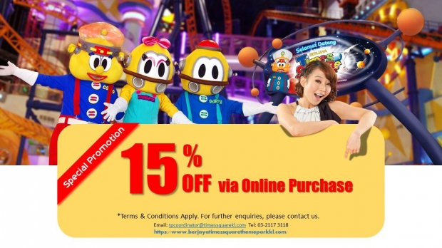 15% Off Berjaya Times Square Theme Park Tickets via Online Purchase