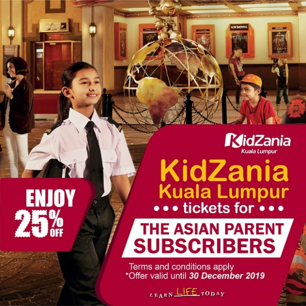 25% off on KidZania Kuala Lumpur Tickets Exclusive for The Asian Parent Subscriber