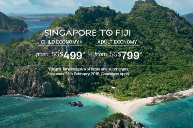 Fly to Nadi with Fiji Airways from SGD799