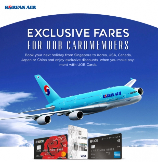 Enjoy Up to 20% Off Flight on Korean Air with UOB Card