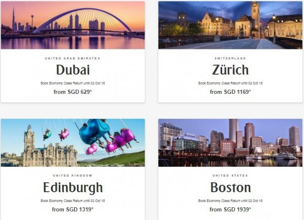 Discover the World with Flights on Emirates from SGD629