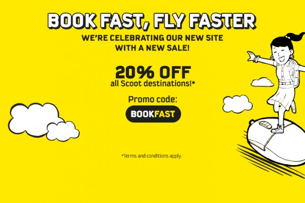 20% OFF Eligible Economy & ScootBiz Fares with Scoot