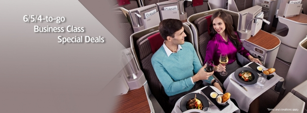 6/5/4-to-go Business Class Special Deals at Garuda Indonesia