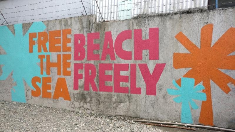 first beach clean-up