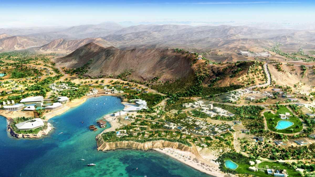Upcoming luxury resort by the Red Sea, Saudi Arabia
