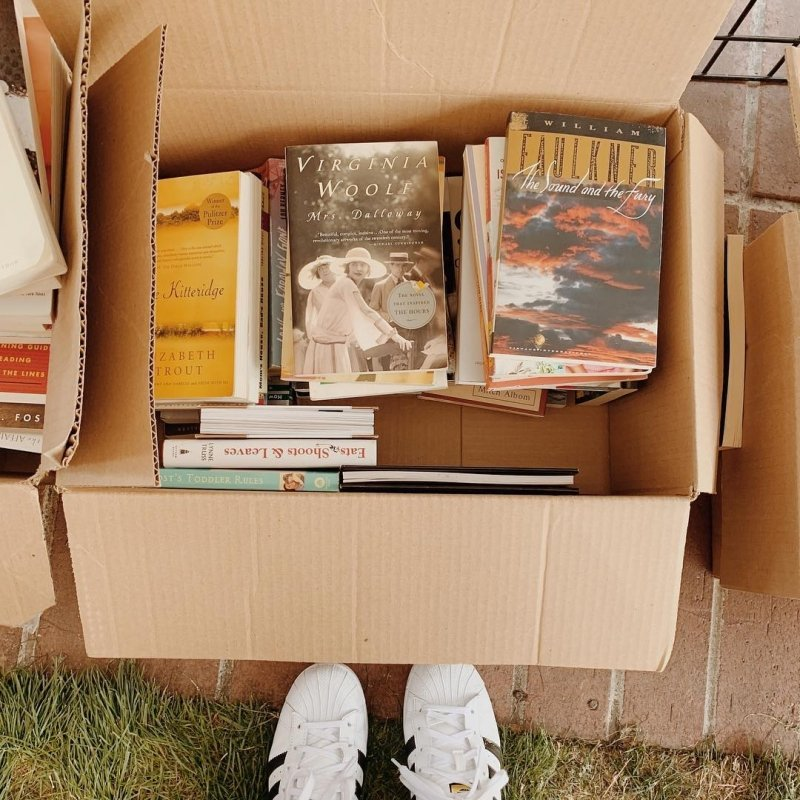 packing books