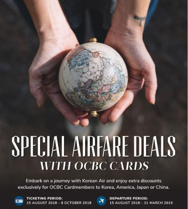 Special Airfare Deals in Korean Air Exclusive for OCBC Cardholders