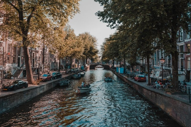 amsterdam canal in daytime