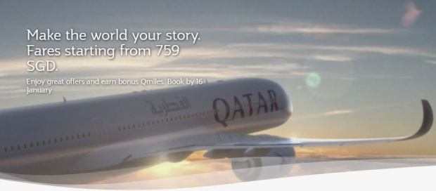 Make the World your Story. Fares Starting from SGD759 with Qatar Airways