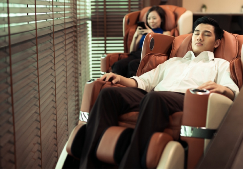 Massage chair relaxing