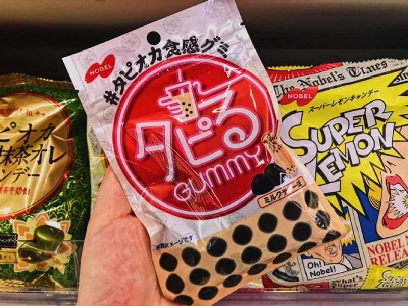 japanese snacks bubble milk tea gummies