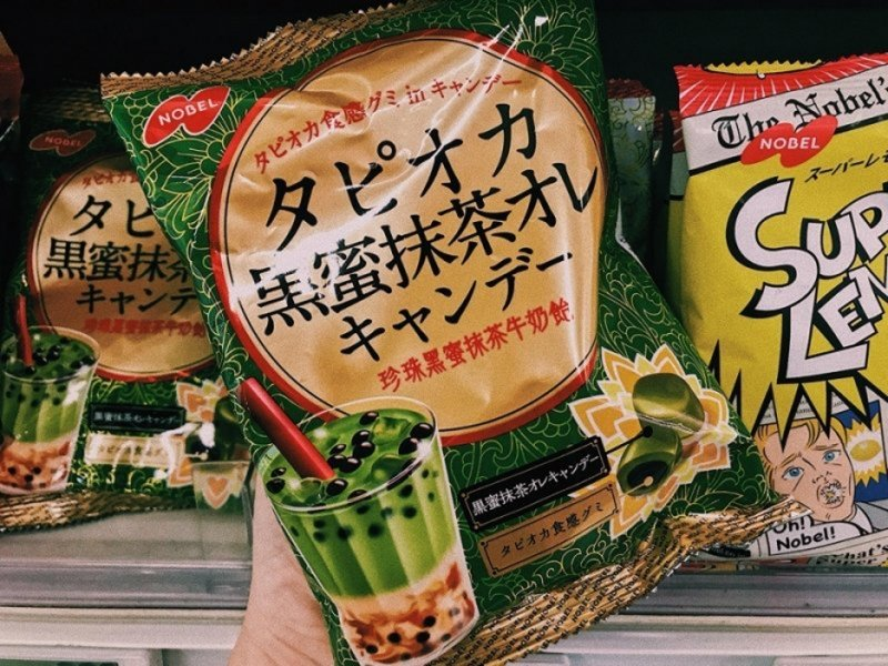 japanese snacks bubble tea gummies