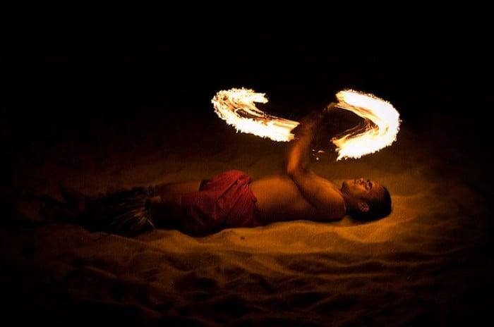 fiji fire show
