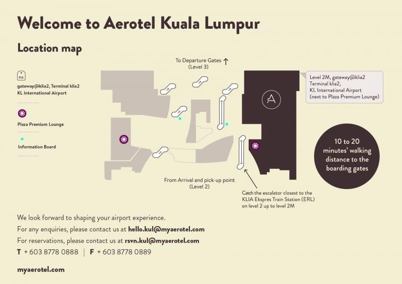Aerotel Kuala Lumpur map