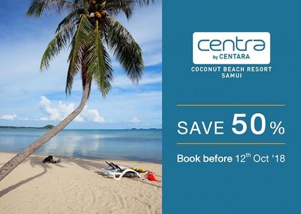 Save 50% at Centara Coconut Beach Resort Samui