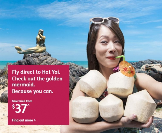 Fly to Hat Yai and Check out the Golden Mermaid with Jetstar from SGD37