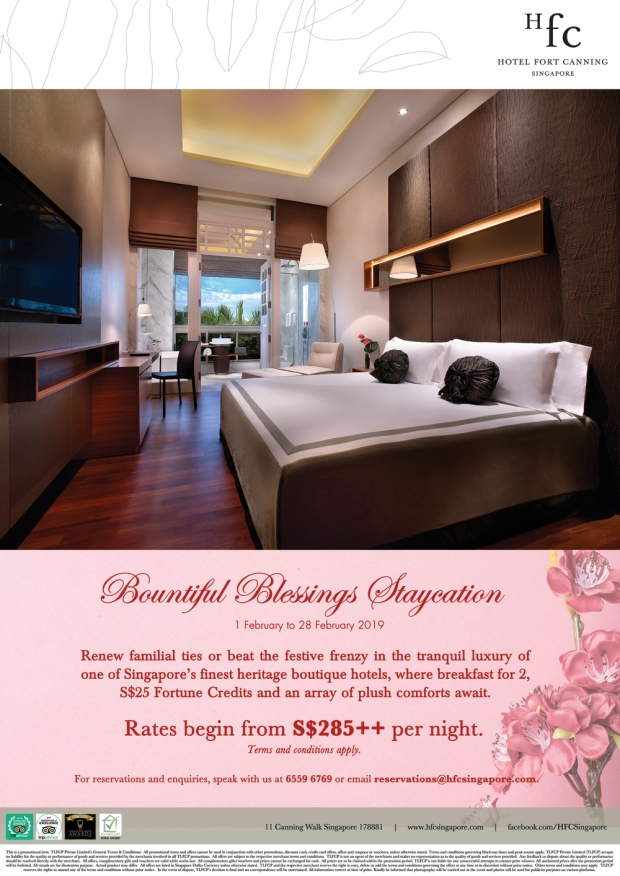 Bountiful Blessings Staycation in Hotel Fort Canning