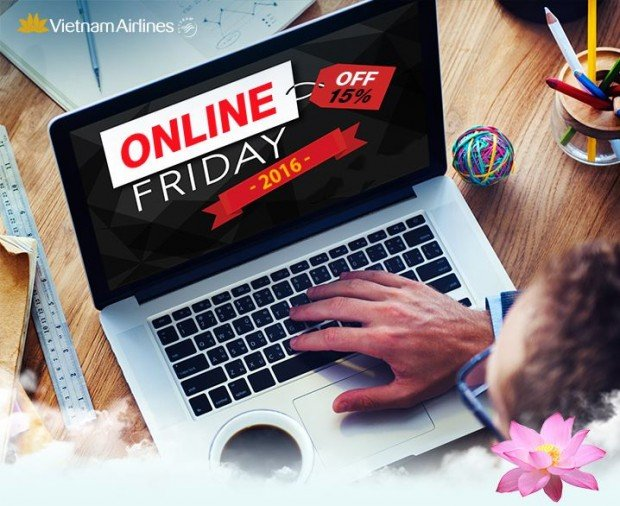 Online Friday Special | 15% Discount of Flights with Vietnam Airlines