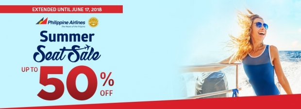 Summer Seat Sale with Up to 50% Off Flight Fares in Philippine Airlines
