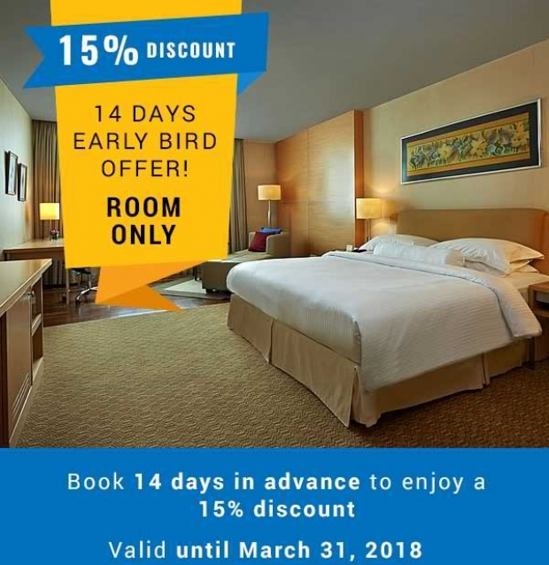 Up to 15% Discount for Early Birds when Booking in Royale Chulan The Curve
