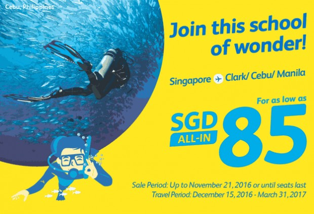 Fly to Philippines with Cebu Pacific from SGD80