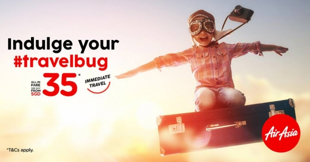Immediate Travel to your Favourite Destinations with AirAsia from SGD 35