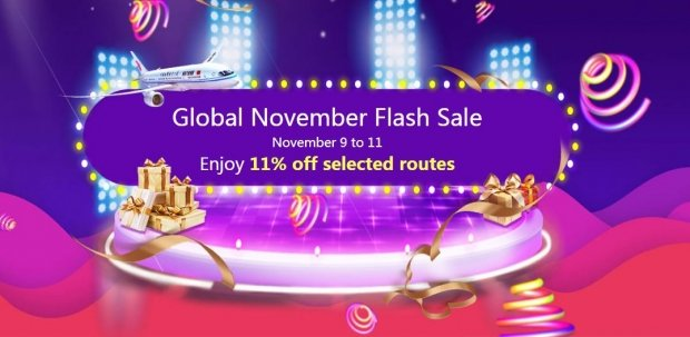 Global November Flash Sale with 11% Flight Discount on Air China
