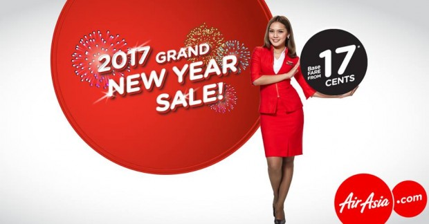 Travel more on 2017 from 17 Cents with AirAsia