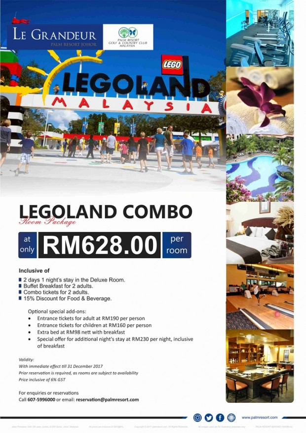 Stay and Play with Le Grandeur Palm Resort and Legoland Promotion